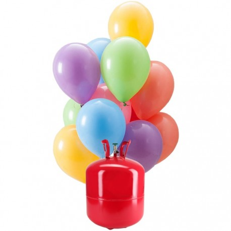 Bonbonne d'Hélium Maxi avec 50 Ballons Pastel